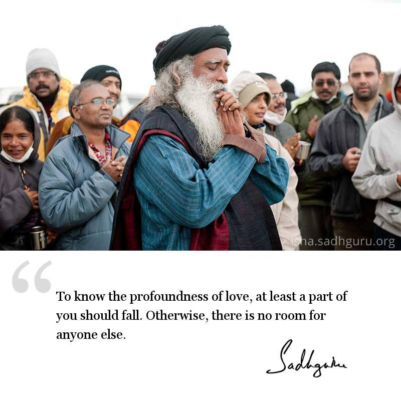 sadhguru quote on relationships, sadhguru quote on love.