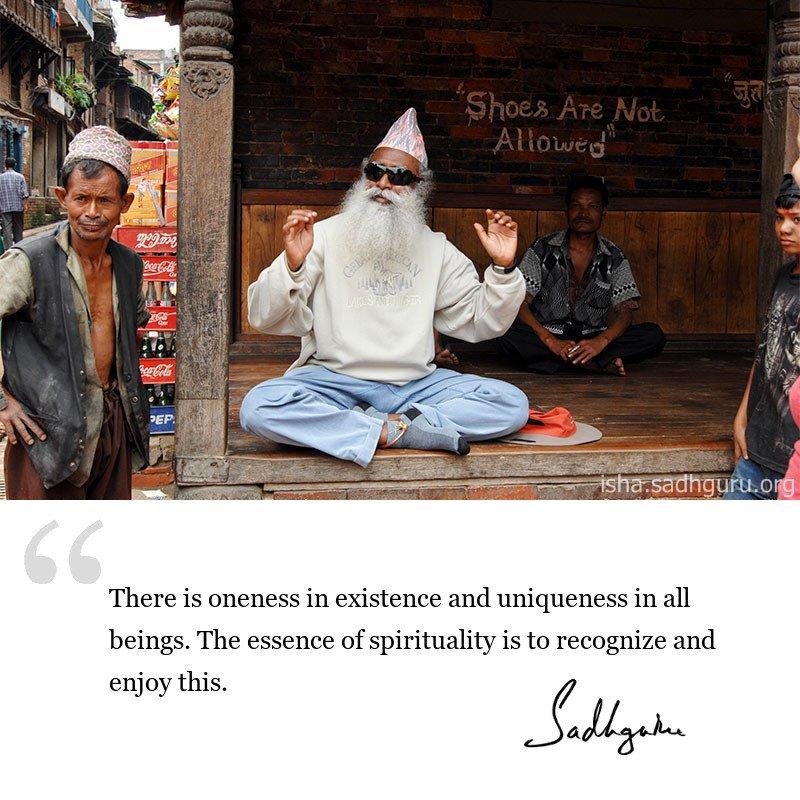 Sadhguru quote on Spiritualism, Quote on spirituality