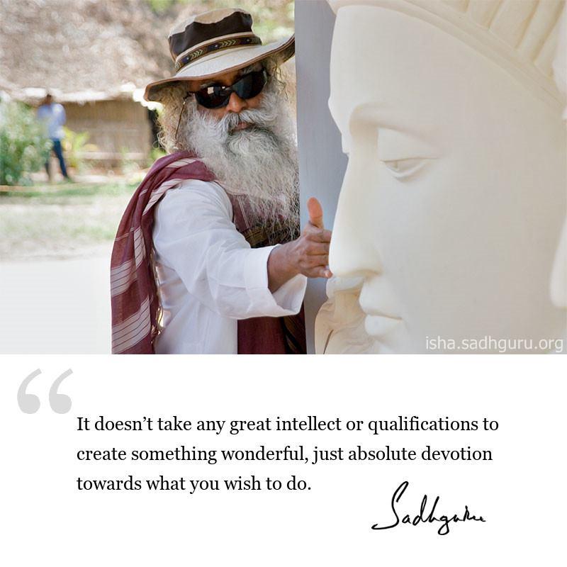 Sadhguru quote on Devotion, Quote on Life Wisdom