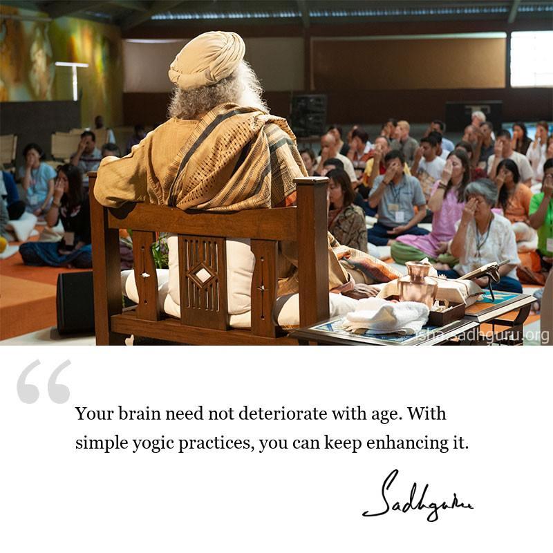 Sadhguru quote on health, quote on mental health, quote on yoga benefits
