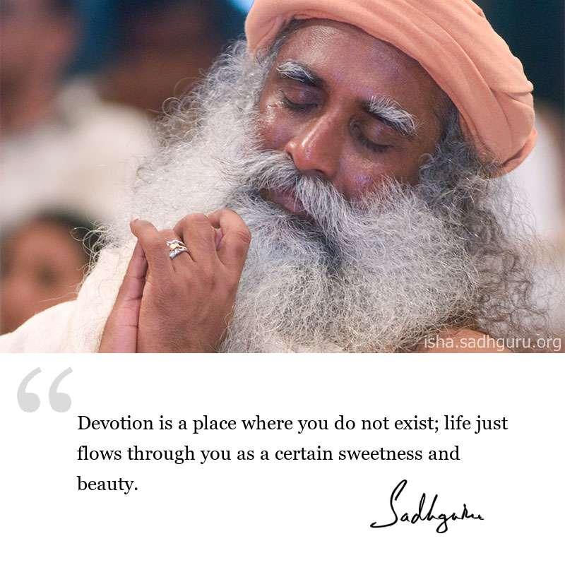 Sadhguru quote on Devotion, Sadhguru quote on Spirituality, quote on devotion