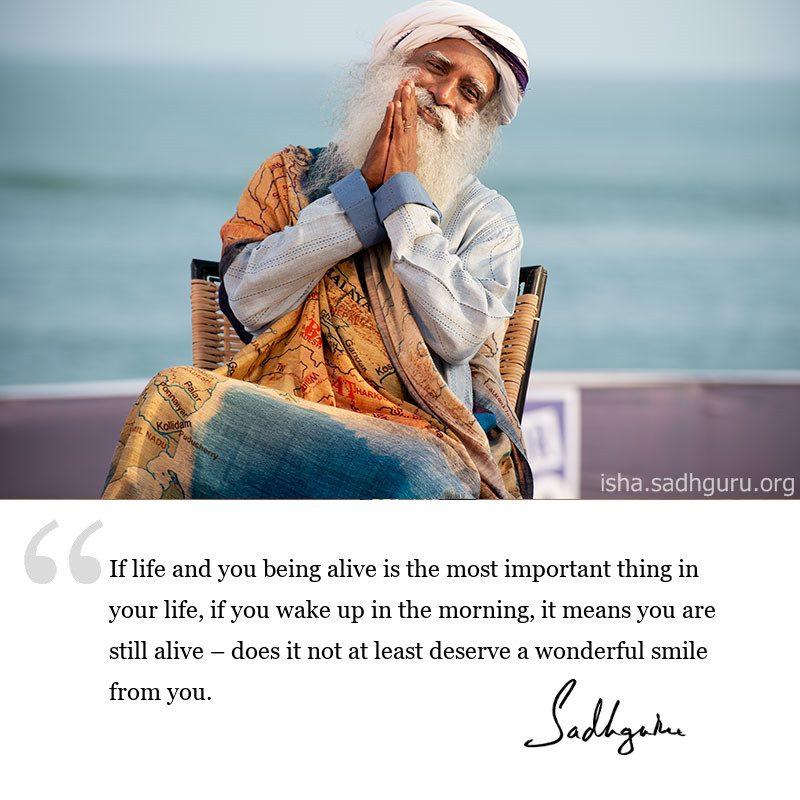 Sadhguru quote on life, sadhguru quote on joy, quote on motivation, inspiring quote