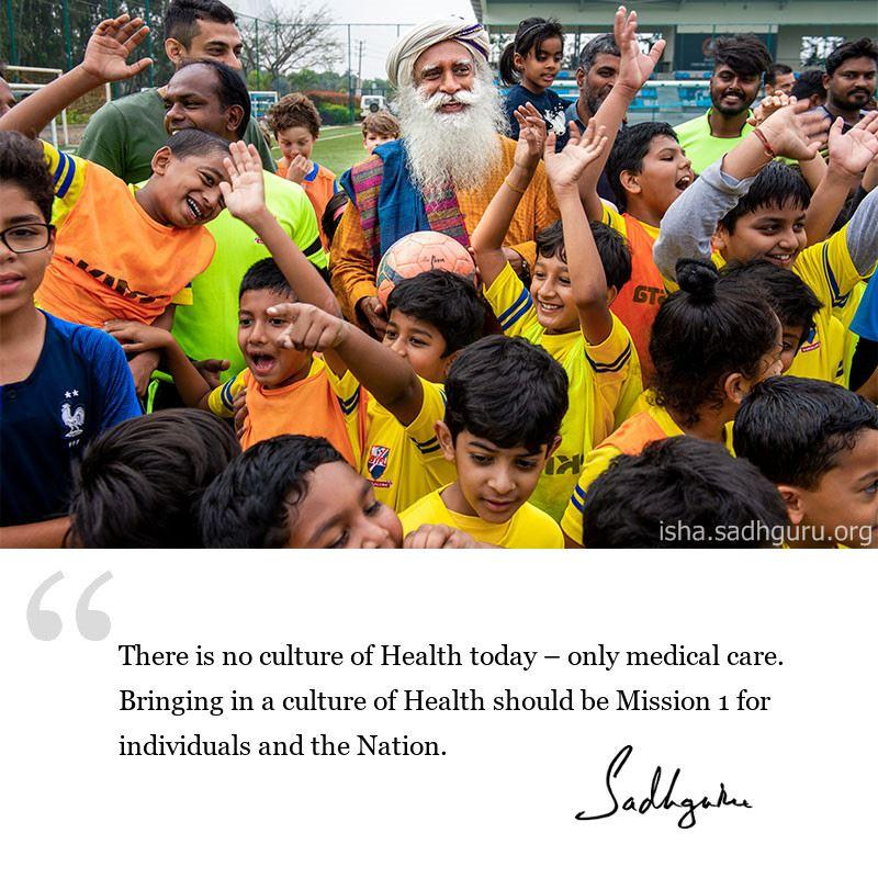 sadhguru quote on health,sadhguru quote on fitness,sadhguru quote on well being