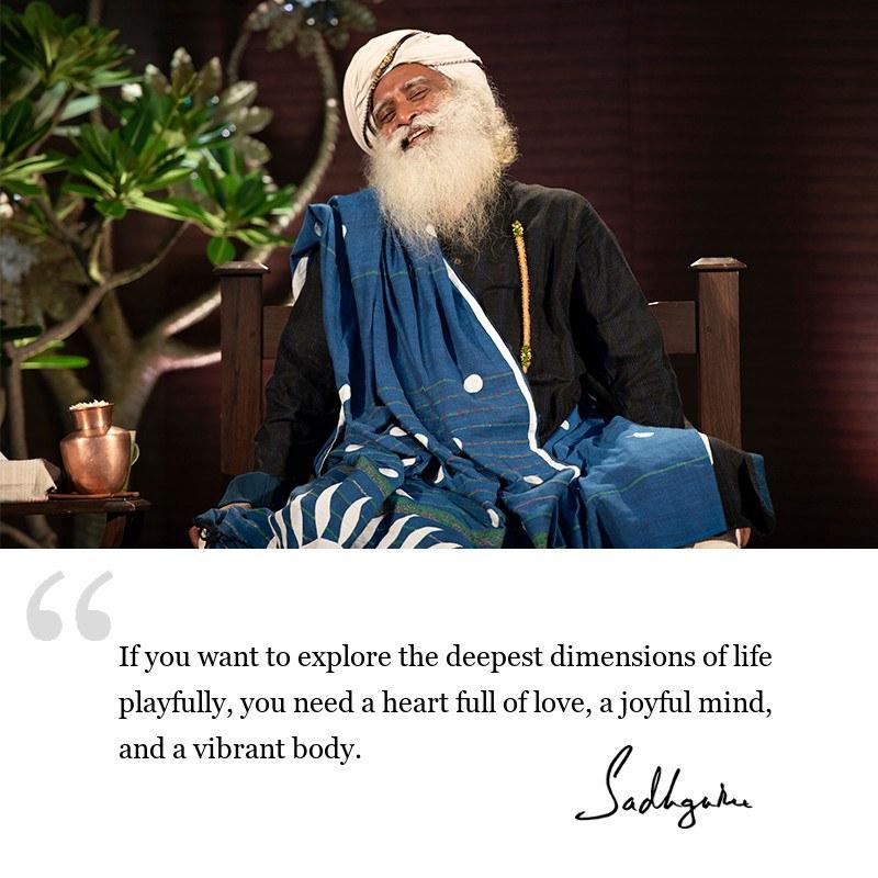 sadhguru quote on life wisdom, sadhguru quote on joy.