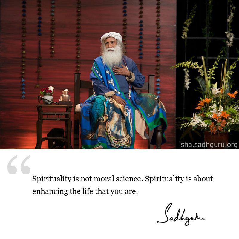 sadhguru quote on spirituality.