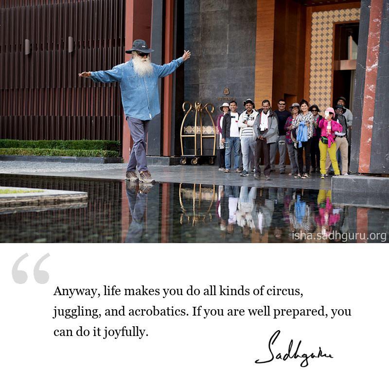 sadhguru quote on life wisdom, sadhguru quote on self awareness.