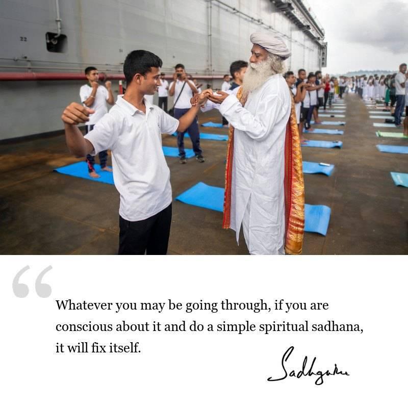 sadhguru quote on spirituality, sadhguru quote on consciousness, sadhguru quote on yogic wisdom.