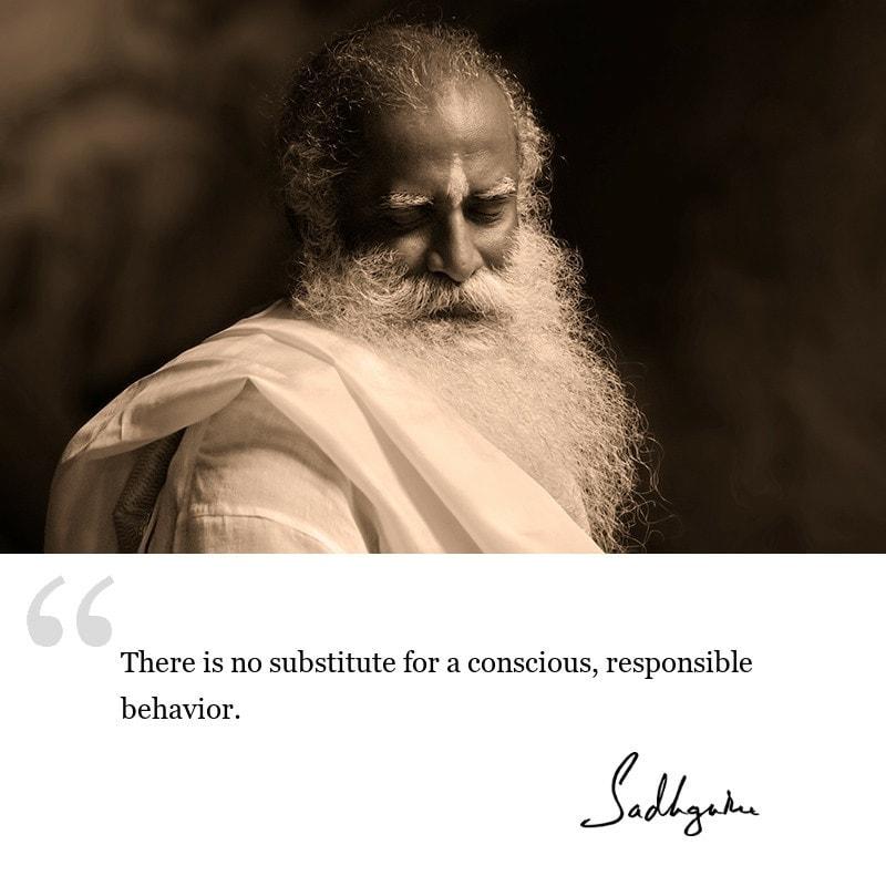 sadhguru quote on society, sadhguru quote on consciousness.