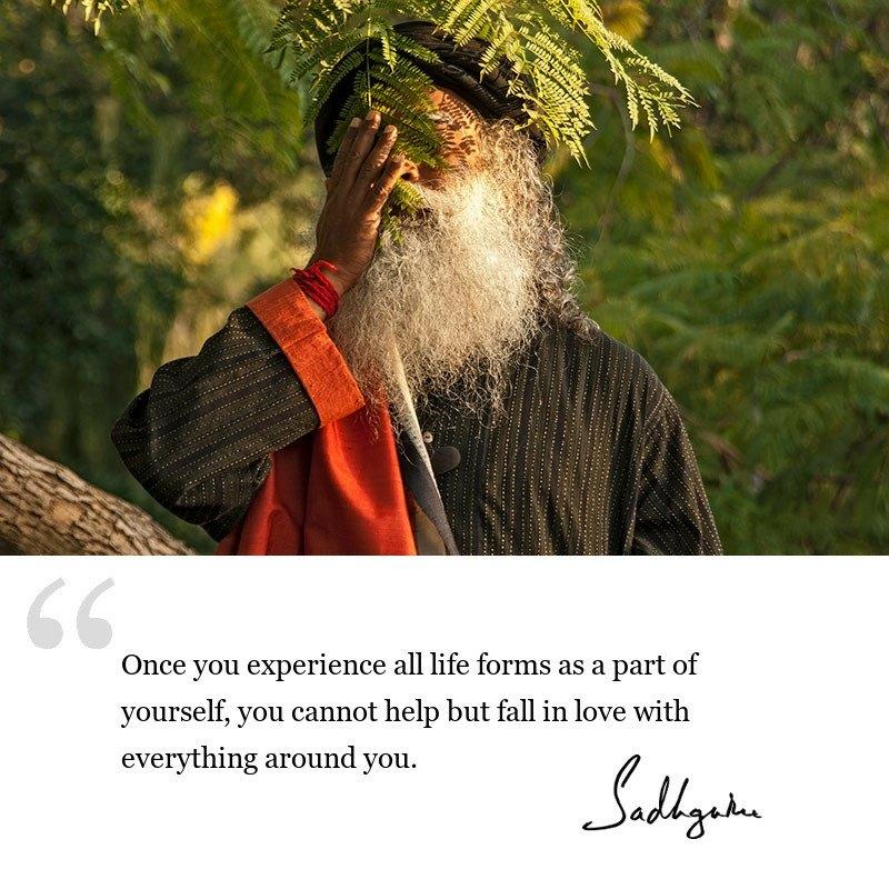sadhguru quote on be inspired, sadhguru quote on inclusiveness.