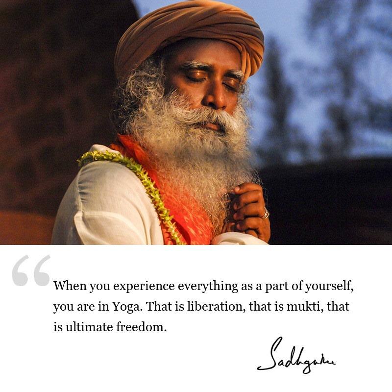sadhguru quote on yoga, sadhguru quote on enlightenment.