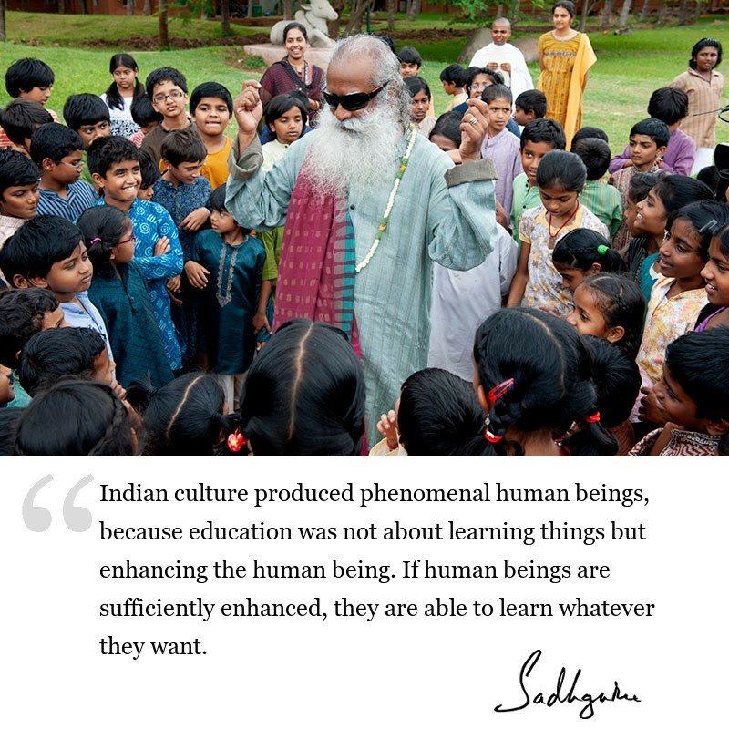 sadhguru quote on education, sadhguru quote on society.