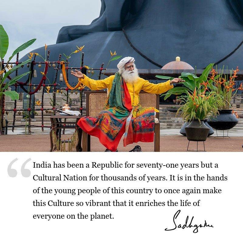 sadhguru quote on India, sadhguru quote on youth, sadhguru quote on inclusiveness, sadhguru quote on society.