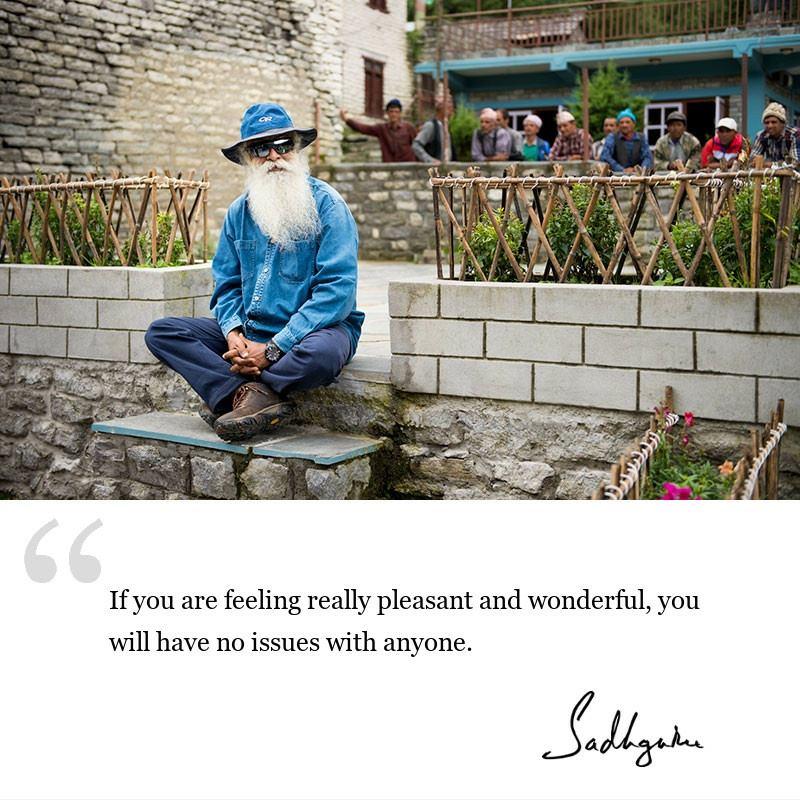 sadhguru quote on be inspired, sadhguru quote on self awareness.