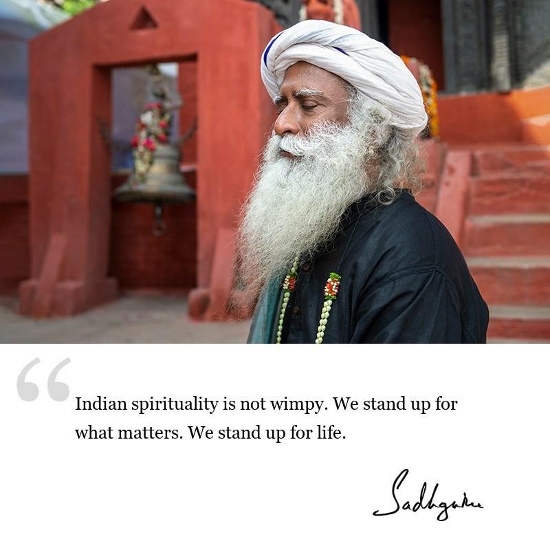 sadhguru quote on India, sadhguru quote on spirituality.