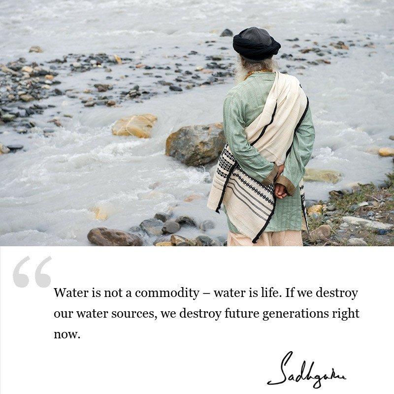 sadhguru quote on society, sadhguru quote on environment.