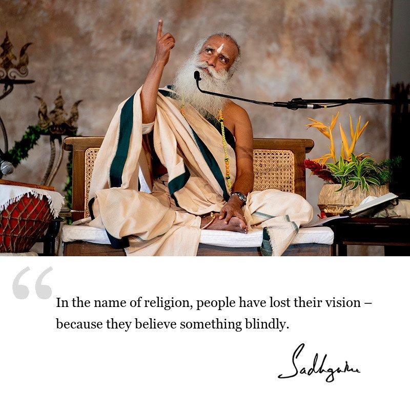sadhguru quote on society, sadhguru quote on religion.