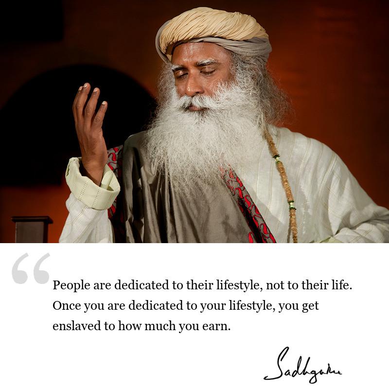 sadhguru quote on society, sadhguru quote on self awareness.