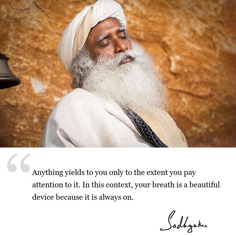 sadhguru quote on be inspired, sadhguru quote on consciousness