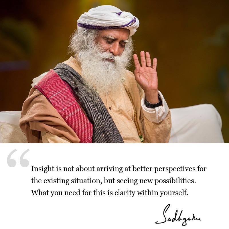 sadhguru quote on be inspired. sadhguru quote on motivation.