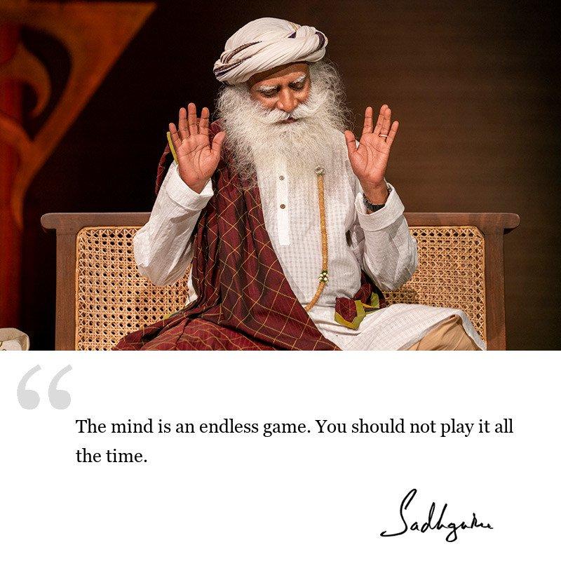 sadhguru quote on mind, sadhguru quote on self awareness.