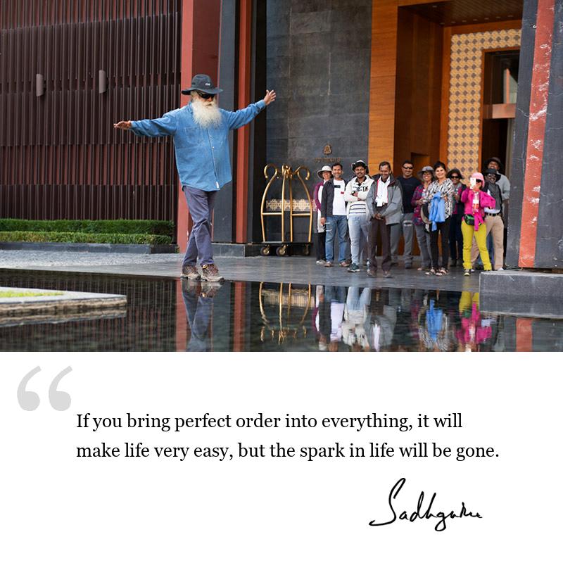 sadhguru quote on wisdom for seekers, sadhguru quote on self awareness. sadhguru quote on life lessons.