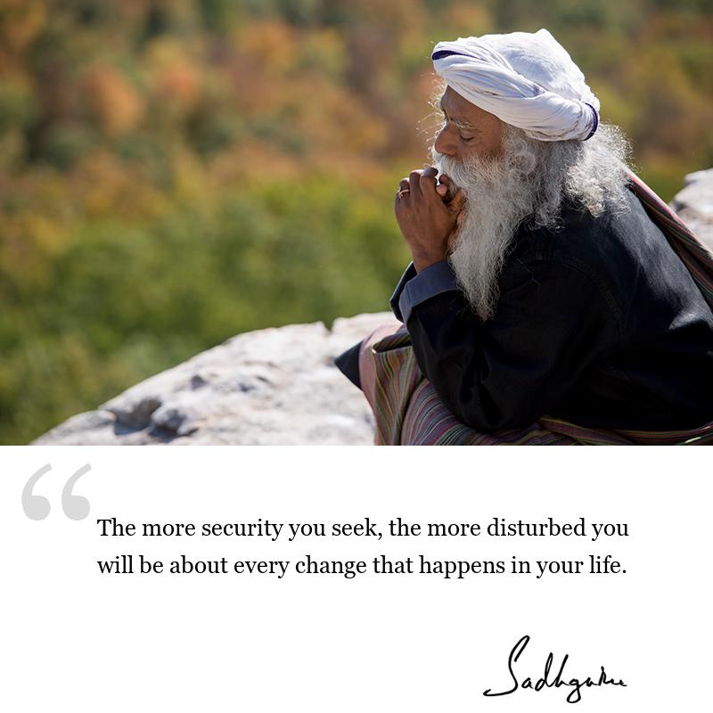 sadhguru quote on wisdom for seekers, sadhguru quote on self awareness, sadhguru quote on life lessons.