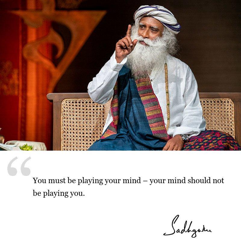 sadhguru quote on mind, sadhguru quote on yogic wisdom.