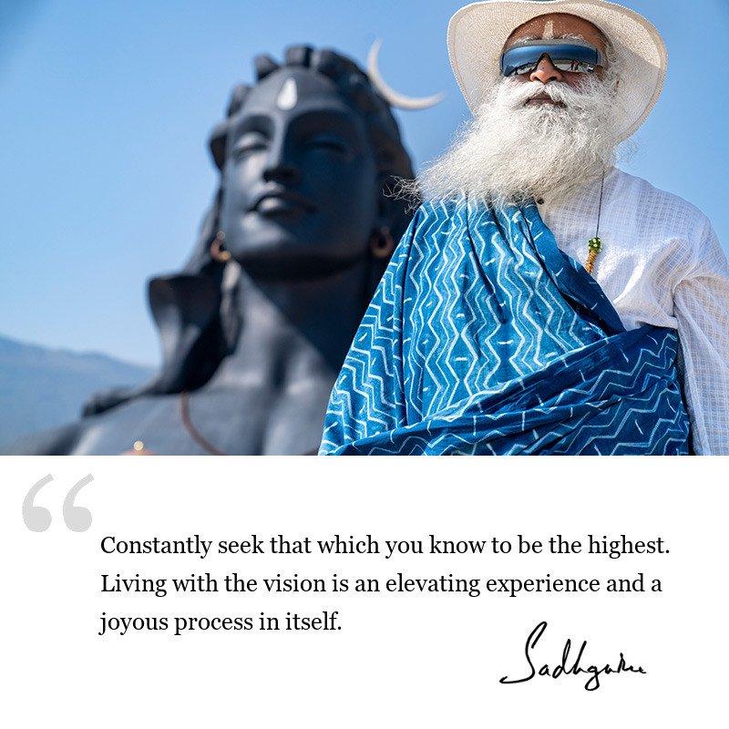 sadhguru quote on be inspired, sadhguru quote on life lessons.