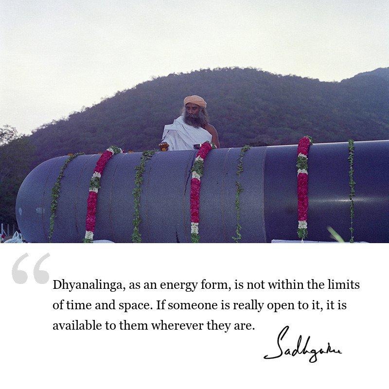 sadhguru quote on consecrated spaces, sadhguru quote on Dhyanalinga.
