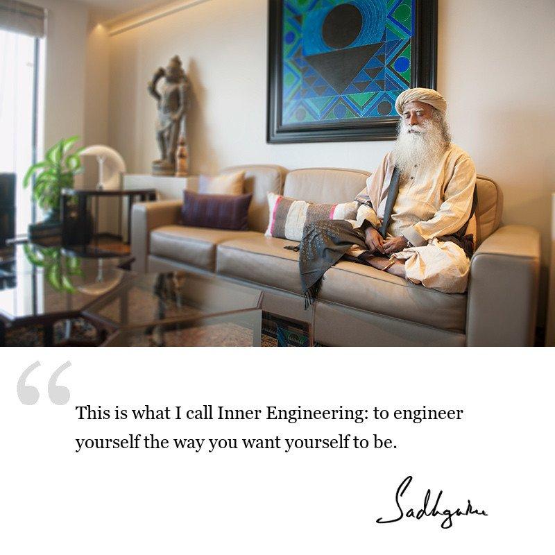 sadhguru quote on be inspired, sadhguru quote on self improvement.