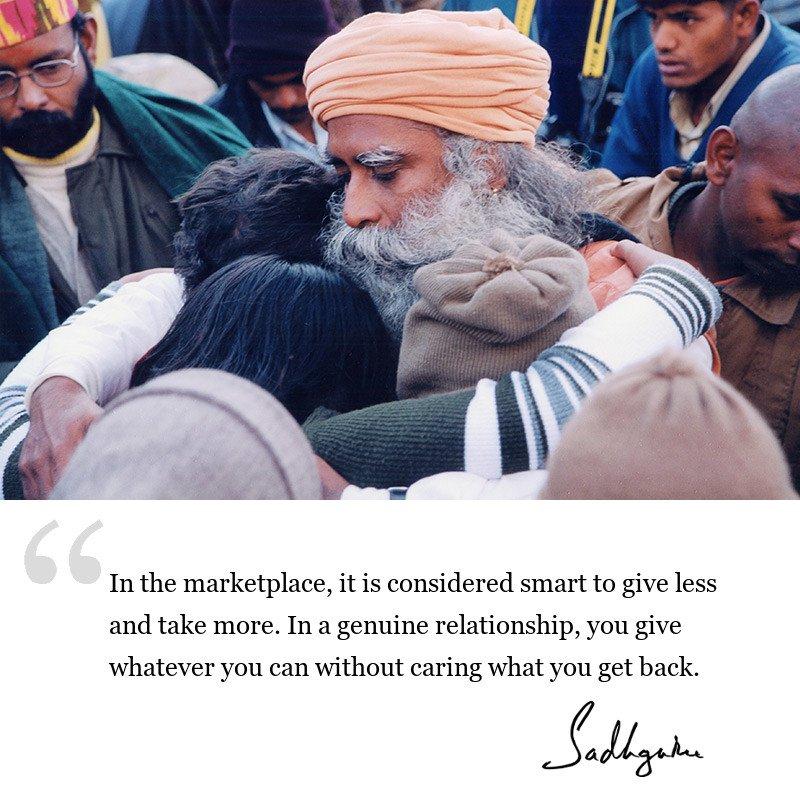 sadhguru quote on relationships, sadhguru quote on involvement.