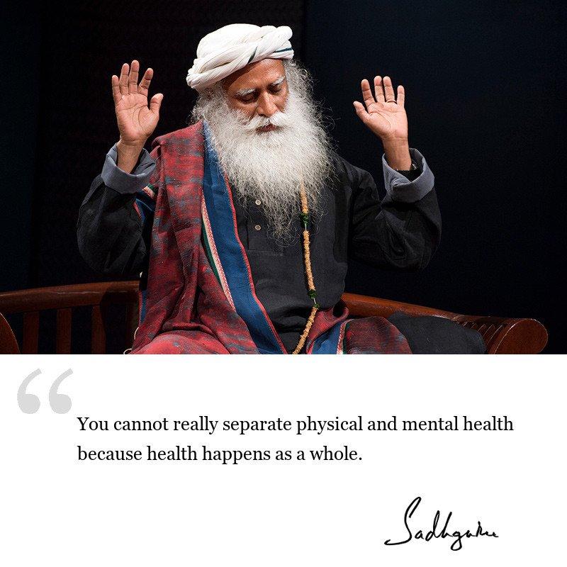 sadhguru quote on health and wellbeing, sadhguru quote on self improvement.